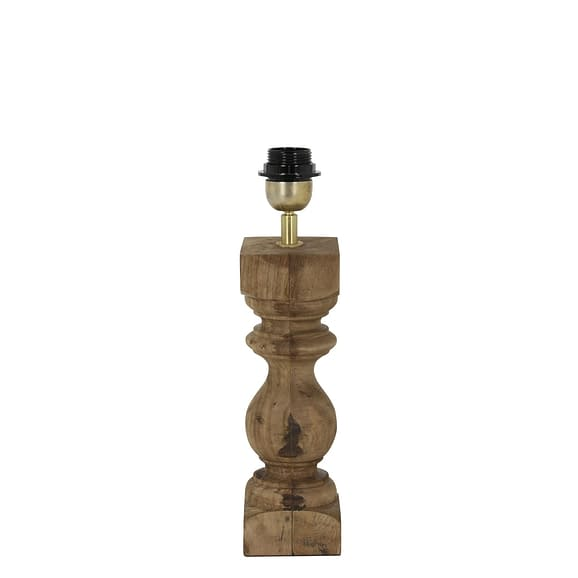 Lampvoet 9x9x27 cm CUMANI hout weather barn