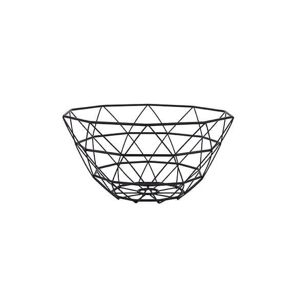 Zwart Fruitschaal Diamond Cut - IJzer Zwart - 30x15cm