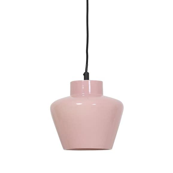 Hanglamp Ø24x26 cm SOUMA keramiek glanzend licht roze