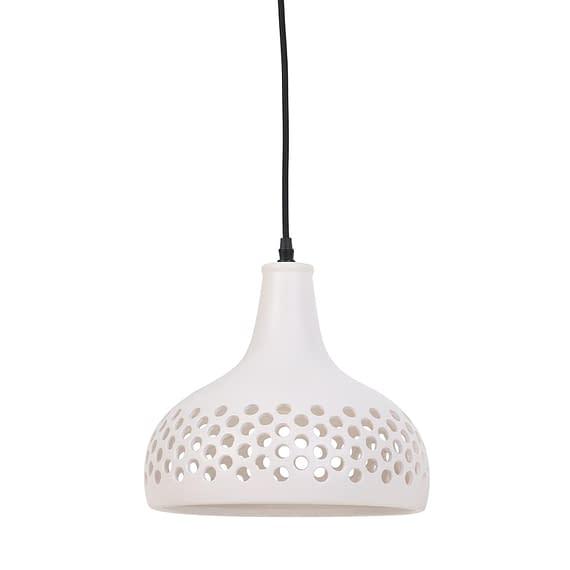 Hanglamp Mercurius - Keramiek Zacht Wit - Ø27 x 24 cm