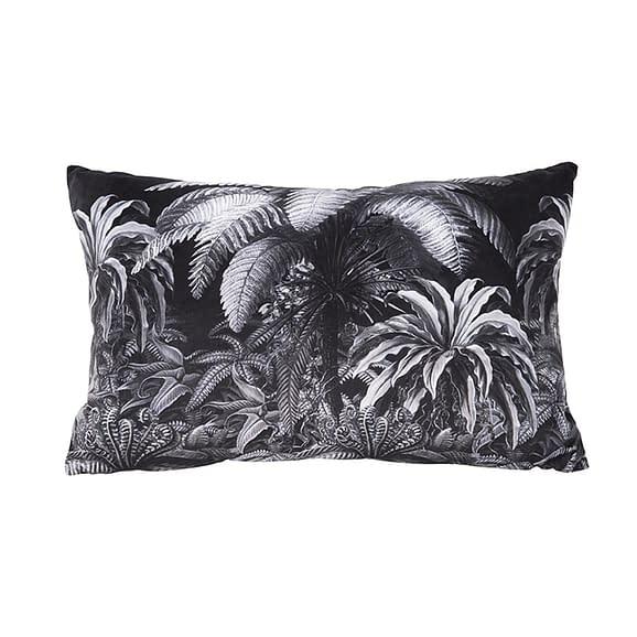 Zwart Kussen Jungle - Velvet Zwart - 45x60cm
