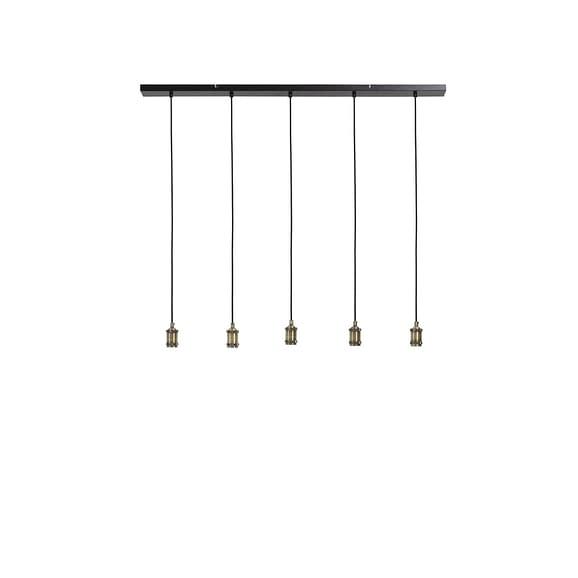 Light & Living - Hanglamp MADELIN - Antiek-brons - 5-lichtpunten - 3066318