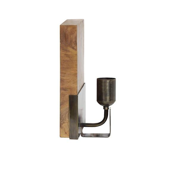 Light & Living - Wandlamp Brick - Naturel Bruin - 20x12x26 cm