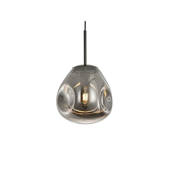 Leitmotiv - Hanglamp Blown Glass - Gun Metal - Small - 25x22cm