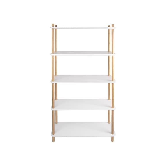 Leitmotiv - Plankenkast Simplicity - Bamboe Wit - Large - 80x30x150cm
