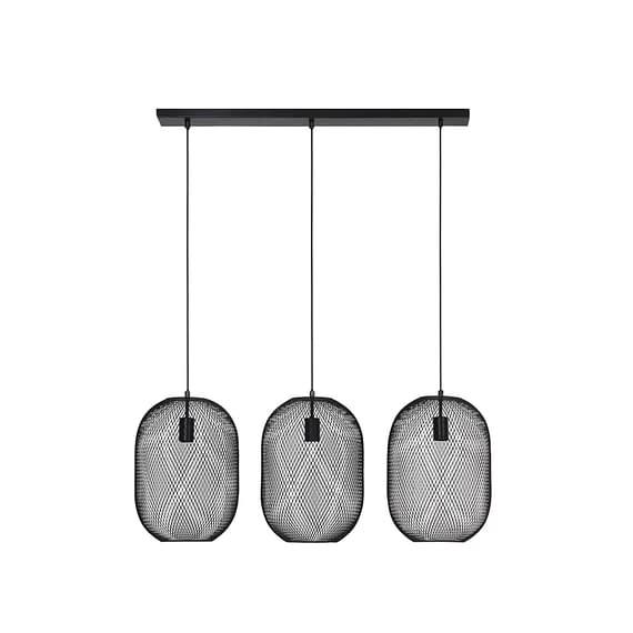Hanglamp 3L 29x101x120 cm REILLEY zwart