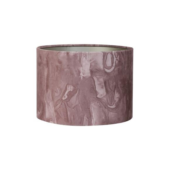 Kap cilinder 30-30-21 cm MARBLE roze