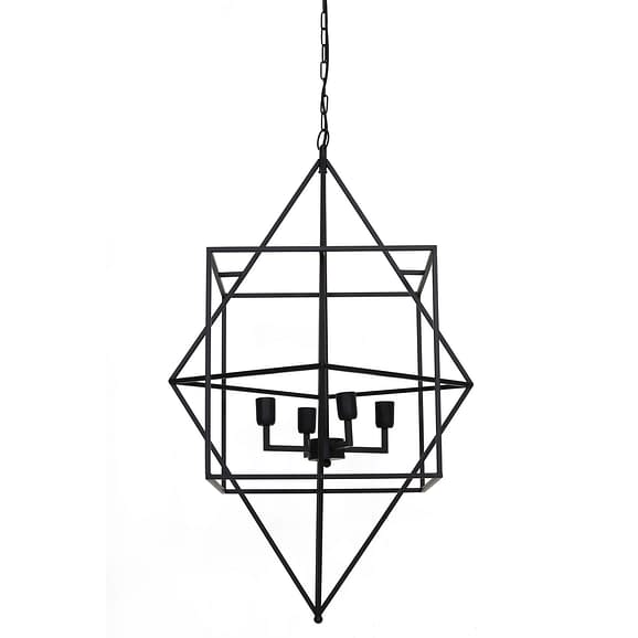 Hanglamp BAULA - mat zwart - 4-lichtpunten