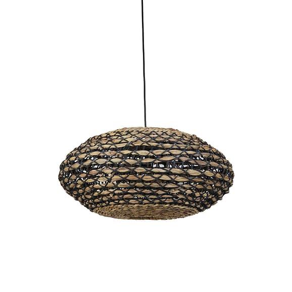 Hanglamp Tripoli - Rotan Naturel/Zwart - Ø60 x 29