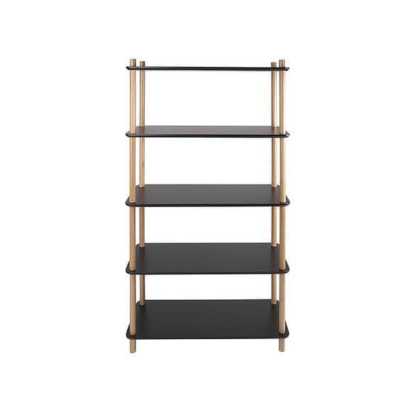 Zwart Plankenkast Simplicity - Bamboe Zwart - Large - 80x30x150cm