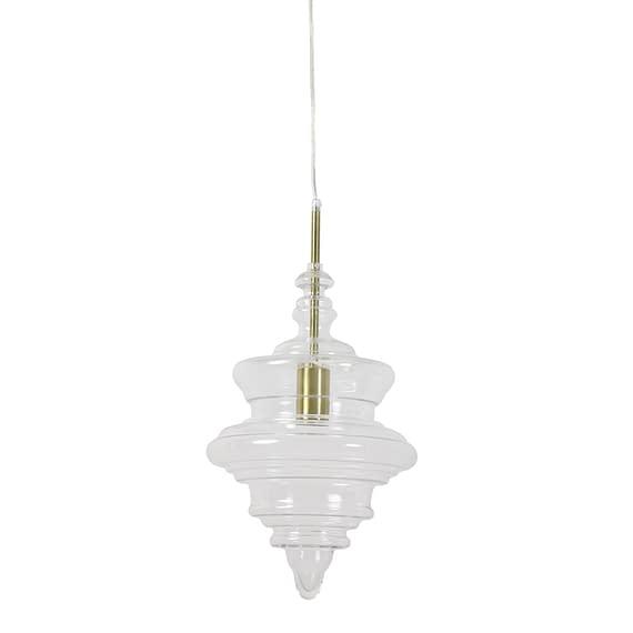 Hanglamp Rivne - Antiek brons/Glas - Ø26 x 40 cm