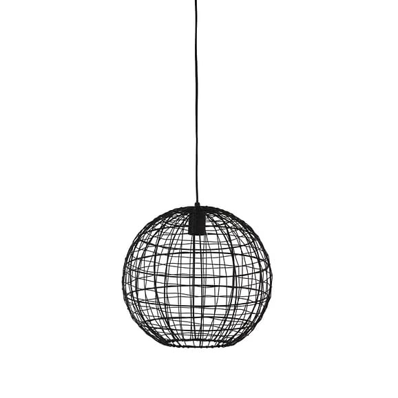 Hanglamp Mirana - Zwart - Ø35x33 cm