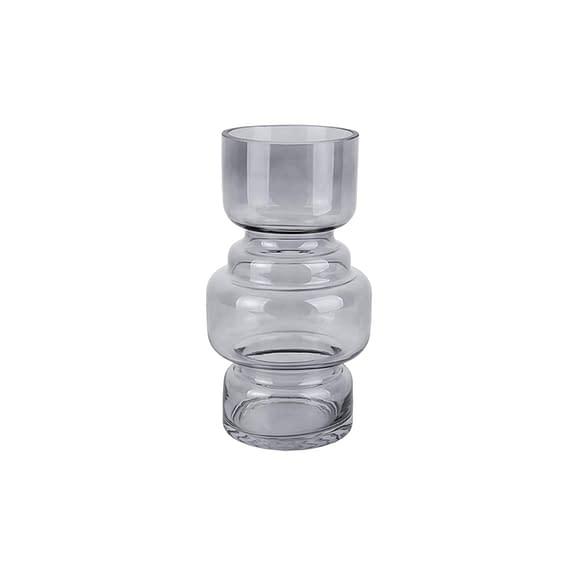 Grijs Vaas Courtly - Glas Donker Grijs - Large - 14x25cm