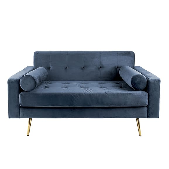 Blauw Bank Embrace - Velvet Jeans Blauw - 142x84x76cm