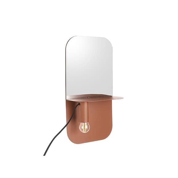 Roze Wand lamp Plate - IJzer Mat Bruin