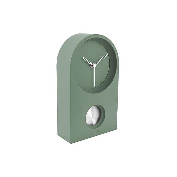 Groen Wand- / Tafelklok Taut - Rubberized Groen - 25x15x6cm