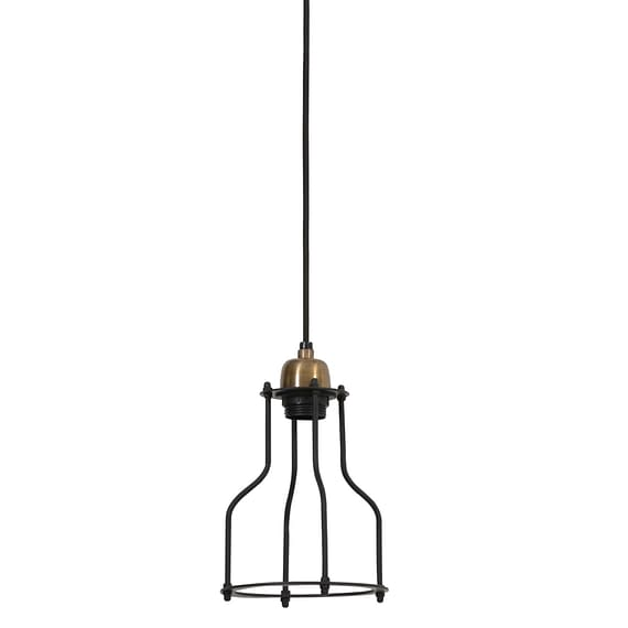 Hanglamp MARCIA - mat zwart-Antiek-brons - M