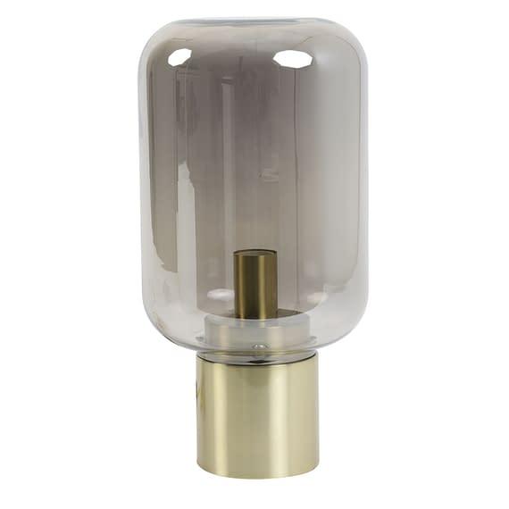 Tafellamp Ø22x52 cm ARTURAN glas smoke+brons
