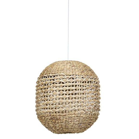 Hanglamp Tripoli - Rotan Naturel/Wit - Ø42 x 47 cm