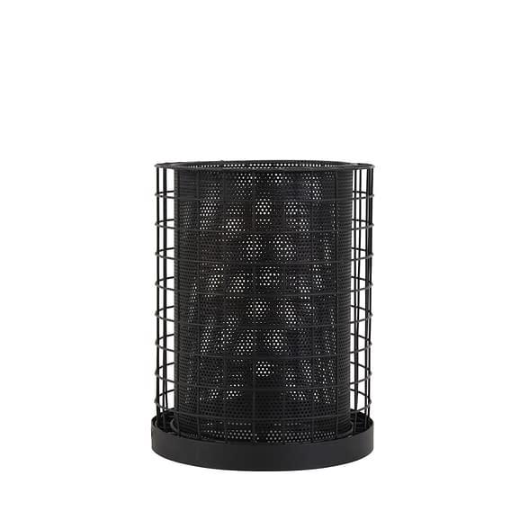 Tafellamp Ø25x34 cm CAJANA mat zwart
