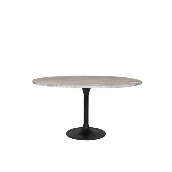 Eettafel Ø120x78 cm BIBOCA acacia hout grijs-zwart