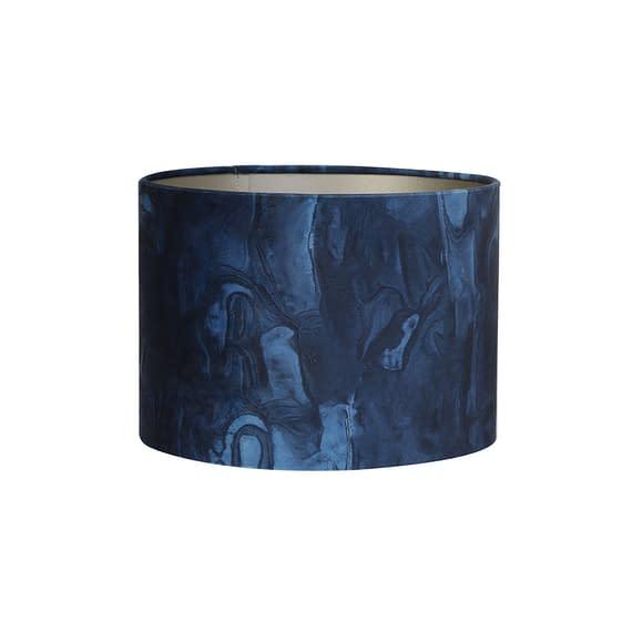 Kap cilinder 30-30-21 cm MARBLE blauw
