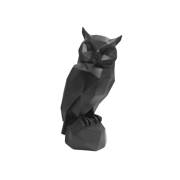 Zwart Ornament Origami Owl - Polyresin Mat Zwart - 32