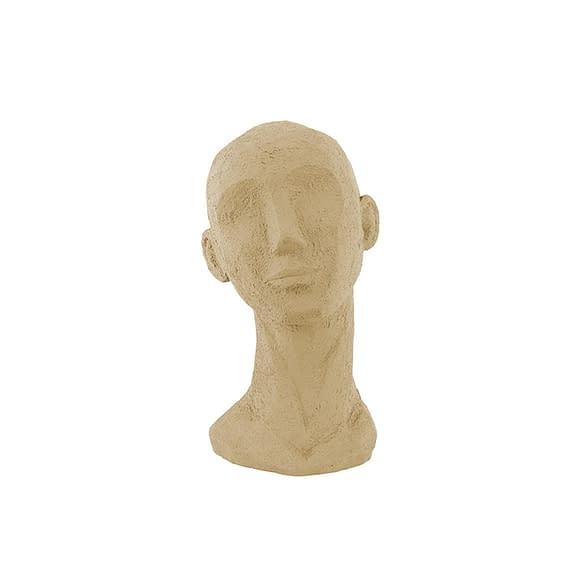 Bruin Ornament Face Art - Polyresin Zandbruin - Large - 17