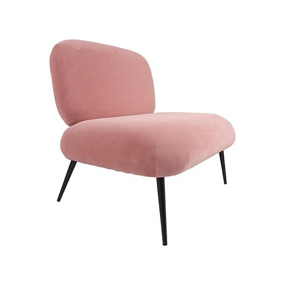 Roze Stoel Puffed - Velvet Roze - 81x68x78cm