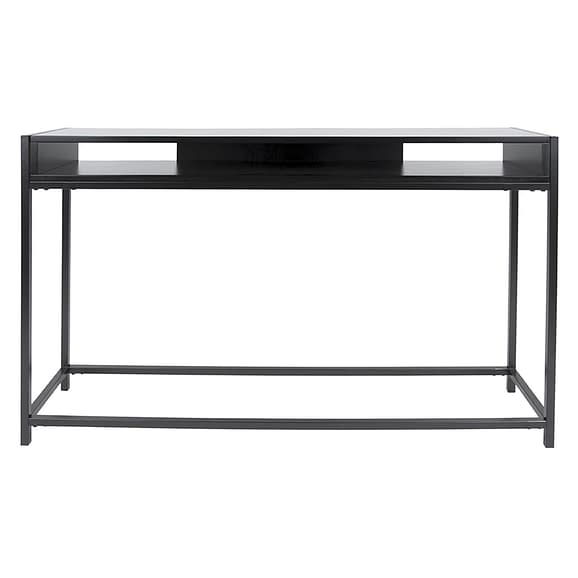 Leitmotiv - Side table Fushion - Zwart - 122x30x81cm