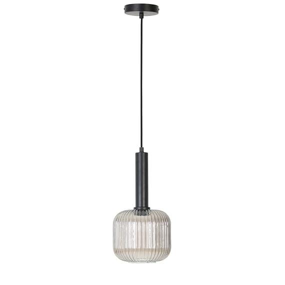 Zwarte hanglamp Linnea van glas