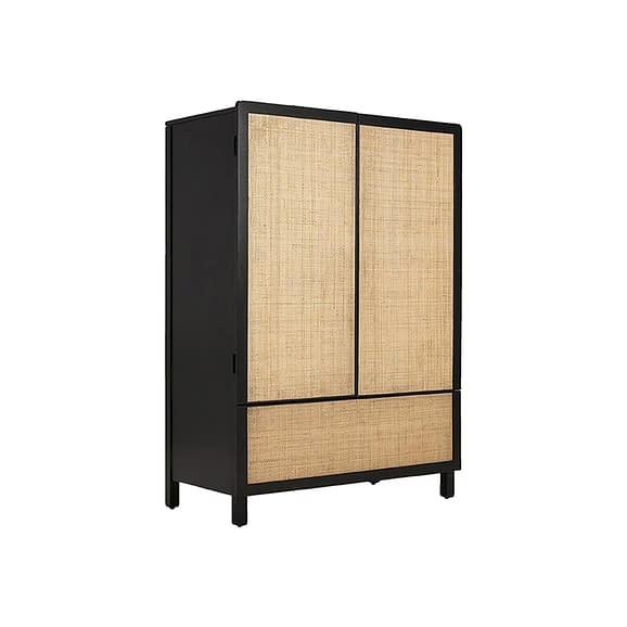 Zwart Dressoir Galant - Hout Zwart - 100x50x140cm