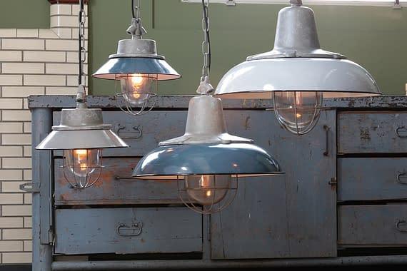 Grijze hanglamp- 1001230