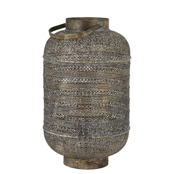 Tafellamp UDUPI - bruin goud - L
