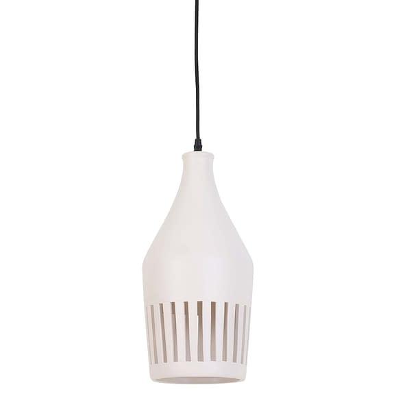 Hanglamp Ø19x40 cm TWINKLE keramiek zacht wit