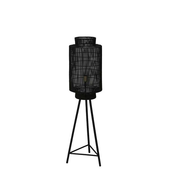 Vloerlamp GRUARO - mat zwart-Antiek-brons - M
