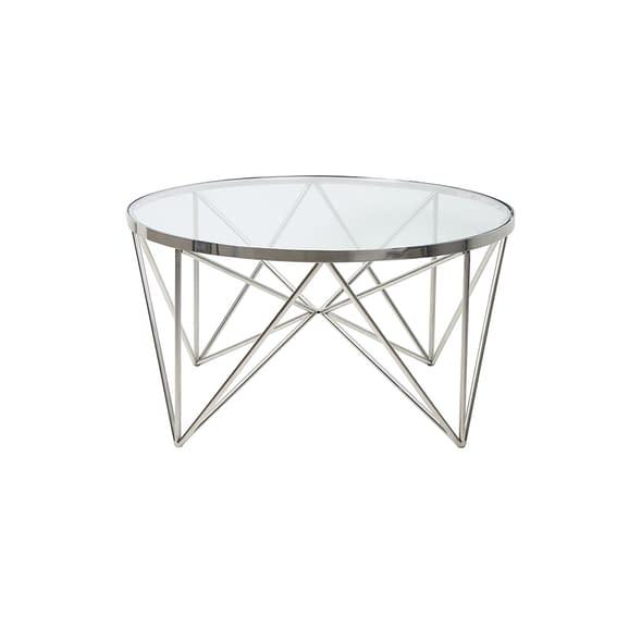 Light & Living - Salontafel Bogota - Nikkel/Glas - Ø80x43 cm