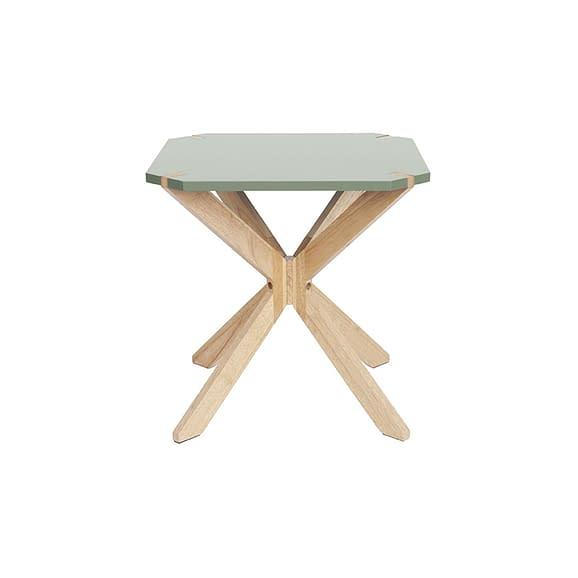 Groen Side table Mister X - Rubber Hout