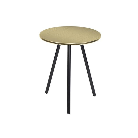 Goud Side table Disc - Staal Antiek Goud
