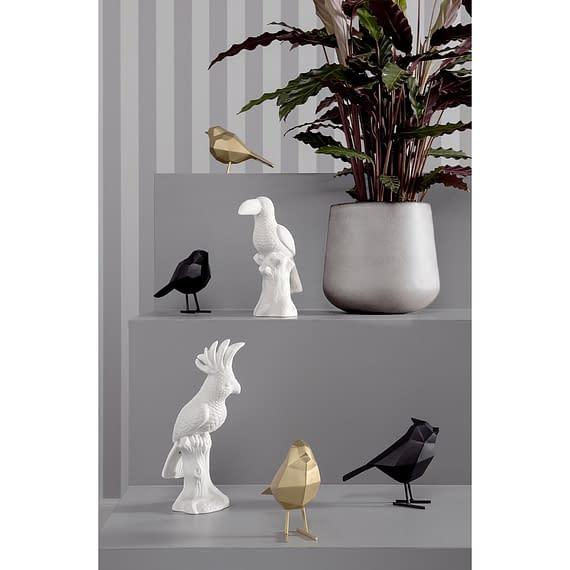 - Statue bird large polyresin matt black