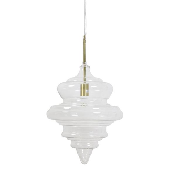 Hanglamp Rivne - Antiek brons/Glas - Ø35 x 50 cm