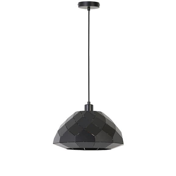 Hanglamp Hisse - Mat Zwart - Ø34x19 cm