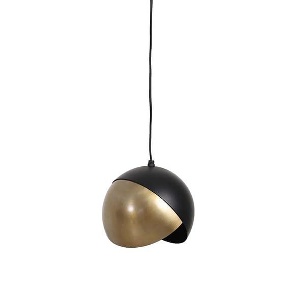 Hanglamp Ø20x17 cm NAMCO antiek brons-mat zwart