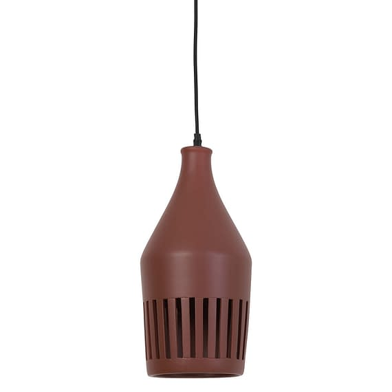 Hanglamp Ø19x40 cm TWINKLE keramiek bruin