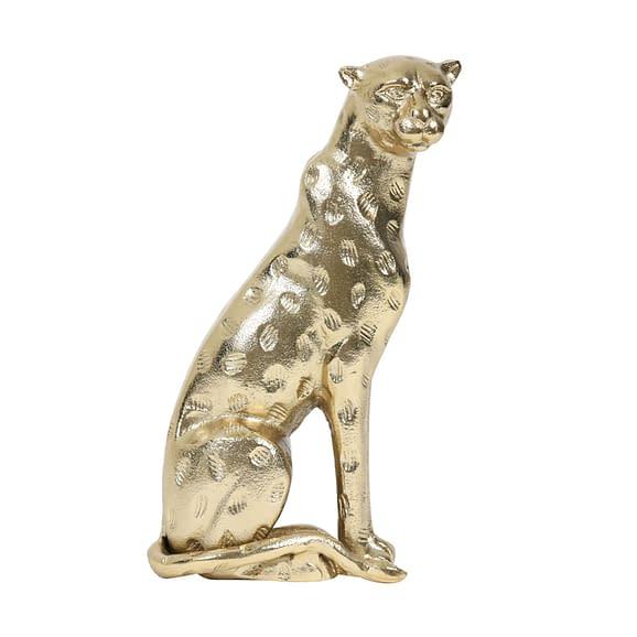 Ornament Leopard - Goud - 15x9x29