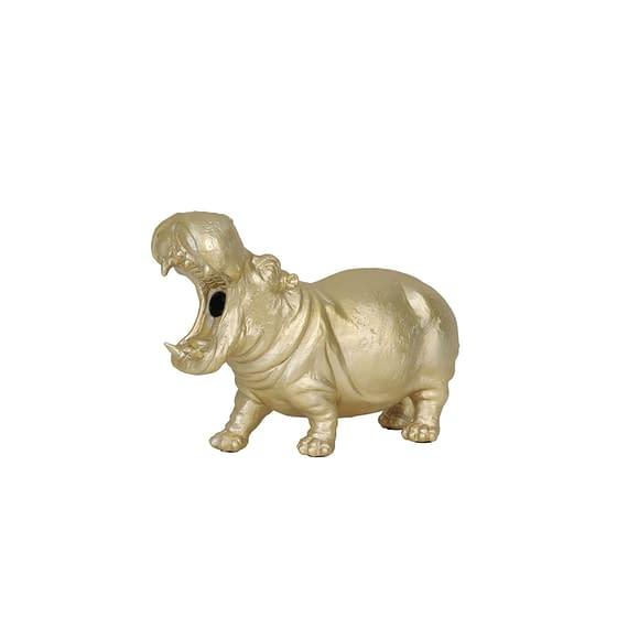 Tafellamp Hippo - Mat Goud - 36x14x24 cm