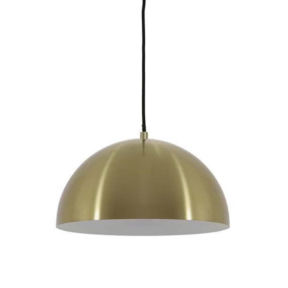 Moderne dome hanglamp in brass gouden kleur
