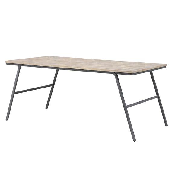 Eettafel MACAS - verweerd hout-Antiek-grijs