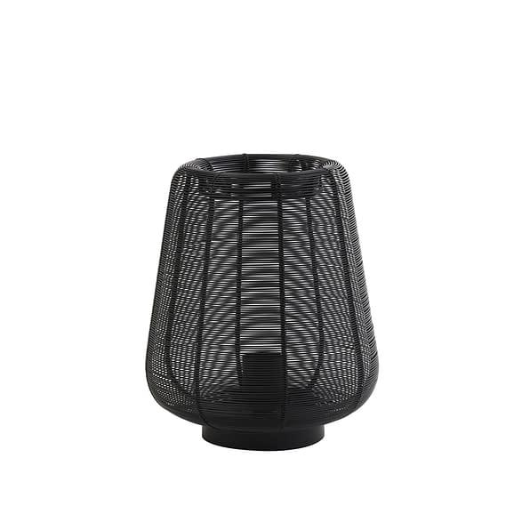 Tafellamp Adeta - Zwart - Ø22x26 cm