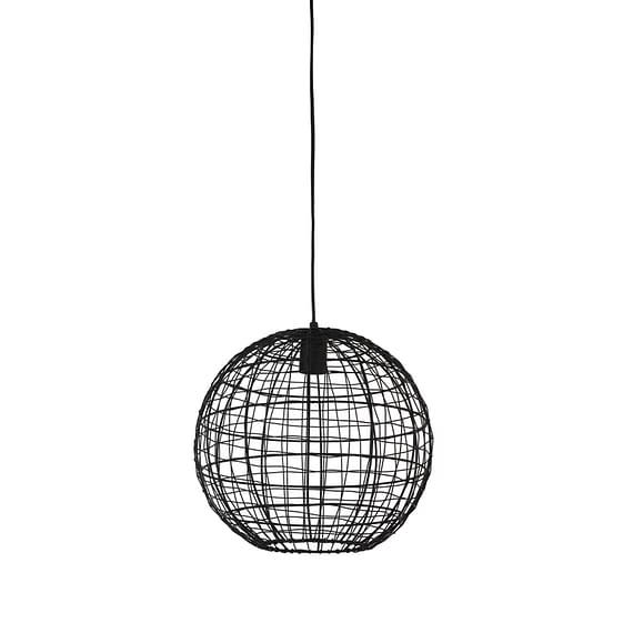 Hanglamp Mirana - Mat Zwart - Ø35 x 33 cm
